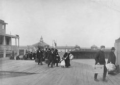 """NYC. """"Immigrants Landing at Ellis Island""""  By Brown Brothers, ca. 1900 // National Archives and Records Administration."""