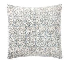 Medallion Print Pillow Cover | Pottery Barn #mypotterybarn