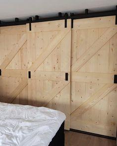 Bedroom Closet Design, Bedroom Wardrobe, Built In Wardrobe, Butterfly Room, Barn Door Designs, Bedroom Cabinets, Double Barn Doors, Dream Closets, Trendy Home