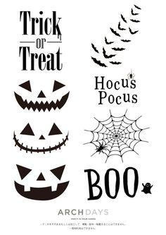 ハロウィン_デザイン_無料 Toddler Halloween, Halloween House, Halloween Kids, Halloween Treats, Happy Halloween, Halloween Parties, White Party Decorations, Halloween Decorations, Halloween Templates