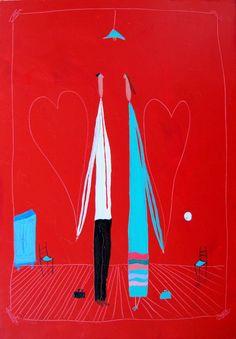 "#Art Felipe Gimenez ""La tarde que el mundo les quedo chico"" Under My Umbrella, Love Heart, Valencia, Hearts, Inspiration, The World, Amor, Art Projects, Illustrations"