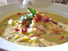 Creamy Spicy Corn Chowder with Chicken Recipe : Food Network - FoodNetwork.com