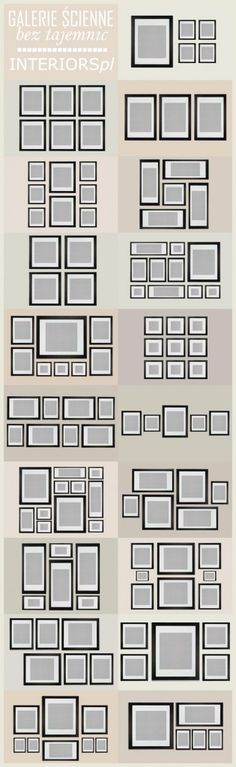 Different Layouts and Sizes to Create a Photo Gallery Wall - My-House-My-Home