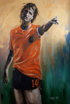 Johan Cruijff - acryl (100x150cm), 2020 My Arts, Painting, Painting Art, Paintings, Painted Canvas, Drawings