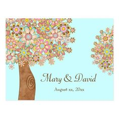 The Tree of Love Save the Date Postcard