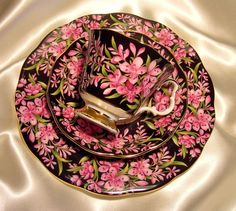 Royal Albert England ~ Provincial Flower Series ~ Fireweed ~ 3 Piece Trio ~ Chintz Tea Cup Saucer Side Plate