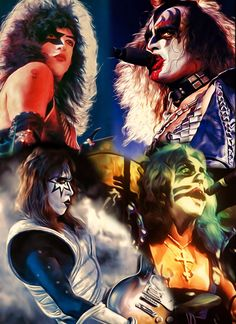 Kiss in Concert 1978 by petnick on DeviantArt Kiss Images, Kiss Pictures, Paul Stanley, Gene Simmons, Kiss Group, Kiss Members, Kiss Rock Bands, Rock Band Posters, El Rock And Roll