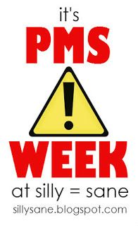 pms week! surviving pms as a mom means keeping perspective (and hopefully retaining the ability to laugh). a series of posts at silly = sane takes on the hormonal tide.