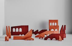 Bruce Rowe · Structures 2015 – 2016 — The Design Files Diy Paper, Paper Crafts, Diy Crafts, Christmas Crafts, Christmas Decorations, Christmas Paper, Landscape Model, Arch Model, Architectural Elements