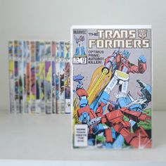 Vintage Transformers Marvel Comics, 18 Issues, I didn't know these existed til today. Marvel Comic Books, Marvel Comics, Transformers, Missing Piece, Optimus Prime, Sound Waves, Nerdy Things, Vintage Toys, Old School