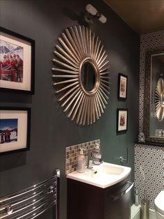 Decor, Lighted Bathroom Mirror, Light, Furniture, Grey Bathrooms, Home Decor, Mirror, Bathroom Lighting, Bathroom