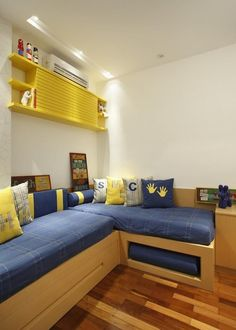 Kids Bedroom Designs, Bunk Bed Designs, Home Room Design, Kids Room Design, Bedroom Corner, Single Bedroom, Small Room Bedroom, Boys Bedroom Furniture, Bedroom Decor