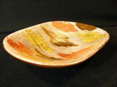 Bitossi Londi Raymor Italy Mid Century Modern Modernist Gold Shell Vase Bowl | eBay