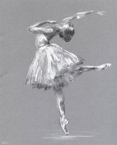 Sketch of ballet dancer. Ballerina Illustration. by madareli