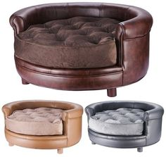 Chesterfield Real Faux Leather Large Dog Bed Designer Pet Sofa By Villacera Chesterfield, Dog Sofa Bed, Sofa Beds, Designer Dog Beds, Dog Furniture, Fine Furniture, Ideas Hogar, Cool Dog Beds, Pet Beds