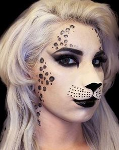 cat face paint halloween - Fancy Face Paint Color Halloween Cat Nose Appliance * Check out the image by visiting the link. (This is an affiliate link) Wolf Makeup, Animal Makeup, Cat Makeup, Makeup Art, Deer Makeup, Makeup Ideas, Amazing Halloween Makeup, Halloween Looks, Halloween Make Up