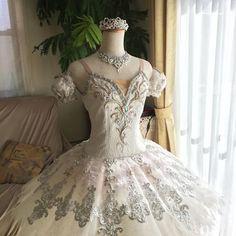 オーロラact3✨2代目です。途中手直しをして長く着ました。そして…只今 3代目を作製中です! 今度はホワイトゴールドで #バレエ#衣装 #手作り#オーロラ姫#2代目act3#ballet#aurora#costume#ハンドメイド
