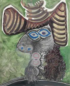 Pablo Picasso (1881-1973)  Tête d'homme