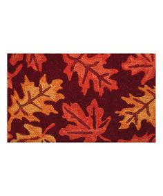 Look what I found on #zulily! Fall Leaves Doormat #zulilyfinds