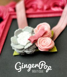 Flower Girl/Spring Bow Felt Flower Headband - Flower headband for newborns, toddlers, or adults - Wedding and Spring photo prop