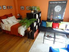 Studio Apartment Separation studio living: to divide or not to divide? | tiny spaces, small