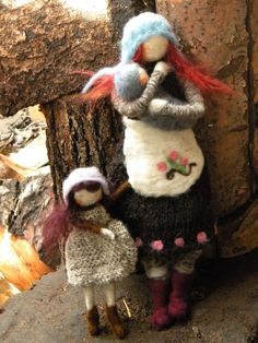Needle Felted Doll/Ornaments (by Felting Dreams), Just a picture . . . reminds me of me and my girls ♥