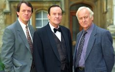 1997 Kevin Whately as Lewis, Richard Briers as Sir Clixby Bream, and John Thaw as Morse in 'Death is now my Neighbour'. Inspector Lewis, Inspector Morse, Kevin Whately, Richard Briers, The Sweeney, Endeavour Morse, Miranda Hart, Bbc Tv Shows, John Edwards