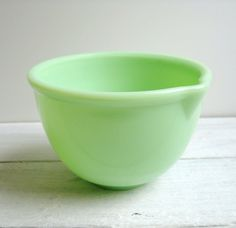 I love beating eggs in this Jadite mixing bowl