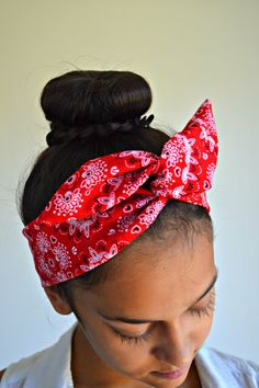 Hey, I found this really awesome Etsy listing at https://www.etsy.com/listing/199916880/red-paisley-dolly-bow-headband-chic-head