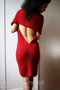 red knit sweater dress! LOVE this! #UNIQUE_WOMENS_FASHION