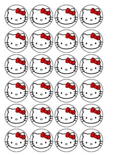 Hello Kitty Cupcake Toppers                                                                                                                                                                                 Más