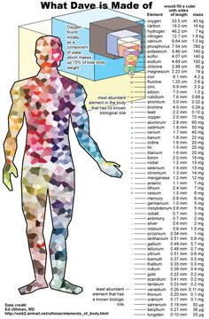 Elements making up human body