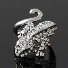 #Rhinestone #Finger #Ring, Gecko,  different size.