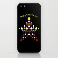 FLAT CHRISTMAS series -CHRISTMAS STAR_B iPhone & iPod Skin by SEOL.D - $15.00