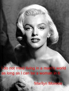 I'm proud to be a woman in a male-dominated industry. I don't seek equality with men. Why limit myself?!