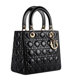 Dior Lady Dior bag in black leather