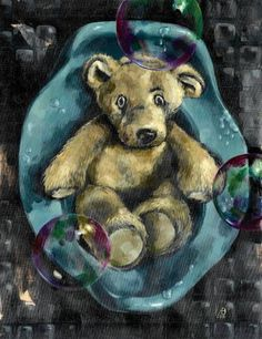 "Saatchi Art is pleased to offer the painting, ""Bubbling Bear Life,"" by andrea bernath. Original Painting: Acrylic on Canvas. Size is 0 H x 0 W x 0 in. Original Paintings, Art Painting, Painting, Art Contest, Online Art, Art, Saatchi Art, Medium Art, Acrylic Painting Canvas"