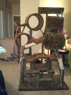 One of a kind Custom Cat Tree House Condo #cat #furniture - Learn more about cat furniture at - Catsincare.com!