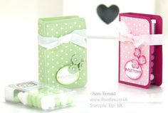 Stampin' Up! UK Independent Demonstrator Pootles. Tic Tac Book Tutorial using Stampin' Up Supplies