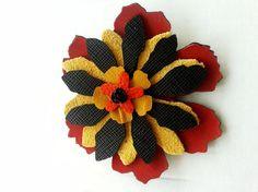 Brosa in forma de floare din piele decupata Lei, 4th Of July Wreath, Wreaths, Accessories, Decor, Fashion, Moda, Decoration, Door Wreaths