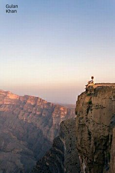 So beautiful view of Jebel Shams Ghul valley Oman