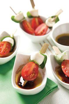 Espetinho de muçarela de búfala e tomate-cereja / DIY, Food