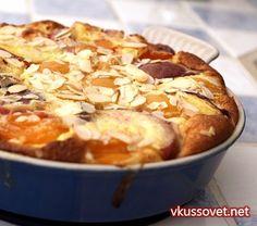 Пирог с нектаринами и абрикосами