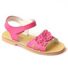 L'Amour Girls Scalloped Open Toe Sandal