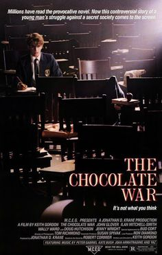 The Chocolate War Streaming Movies, Hd Movies, Movies Online, Movie Film, Ilan Mitchell Smith, War Film, Film Watch, Watch Free Full Movies, Original Movie Posters