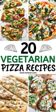 20 Amazing vegetarian pizza recipes you wish you made sooner! #vegetarianpizzarecipes #meatlesspizzas #pizzarecipes Feta Pizza, Caprese Pizza, Goat Cheese Pizza, Spinach Pizza, Best Vegetarian Pizza Recipe, Pizza Recipes, Healthy Recipes, Sweet Potato Pizza Crust, Vegetarian Lifestyle
