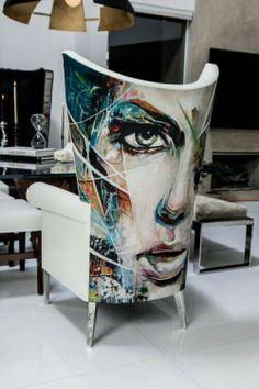 Graffiti chair
