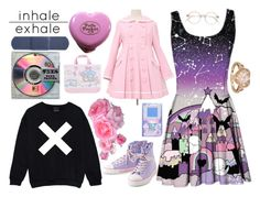 """Inhale Exhale"" by limerick-riddle ❤ liked on Polyvore featuring women's clothing, women's fashion, women, female, woman, misses, juniors, cute, toocute and kawaii"