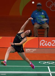 Kristina Gavnholt of Czech Republic competes against Akane Yamaguchi of Japan in the badminton Women's Singles Group Play Stage - Group K on Day 7 of the 2016 Rio Olympics at Riocentro - Pavilion 4 on August 12, 2016 in Rio de Janeiro,  (748×1024)