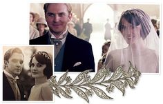 Alright, alright - Downton Abbey isn't a movie, but has been such a big influence on recent jewelry trends that to neglect it here would certainly seem remiss!  One of my absolute favourite pieces on the show is without question Mary Crawley's wedding tiara, made by Bentley & Skinner and featuring 45 carats of diamonds set in gold and silver.